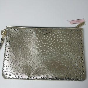 Victoria's Secret Gold Clutch NWT